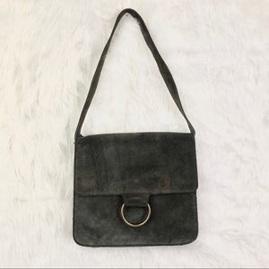Urban outfitters suede shoulder bag